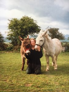 Donkeys Jack and Noddy with Ruthy Doolittle as a teenager