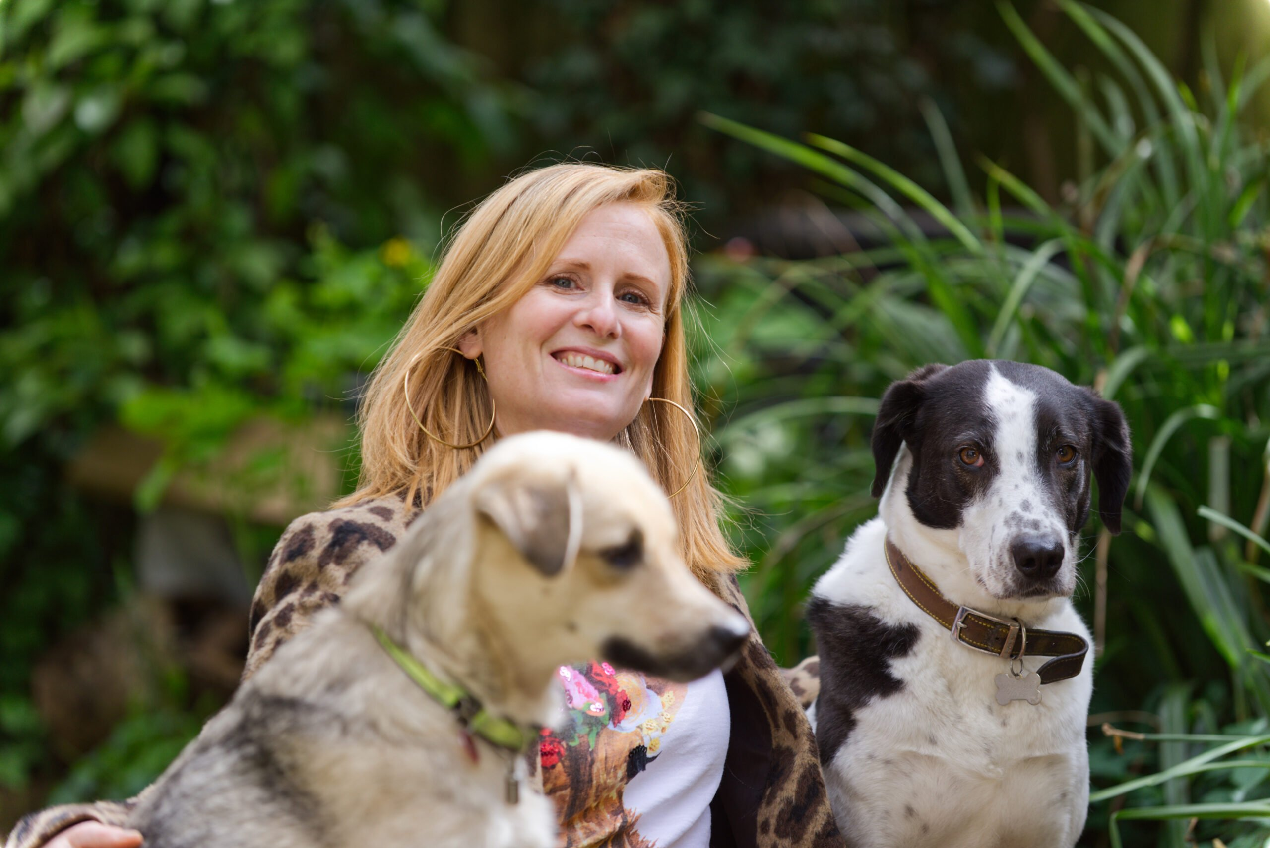 Ruth Doolittle with her dogs Marshall and Buttercup